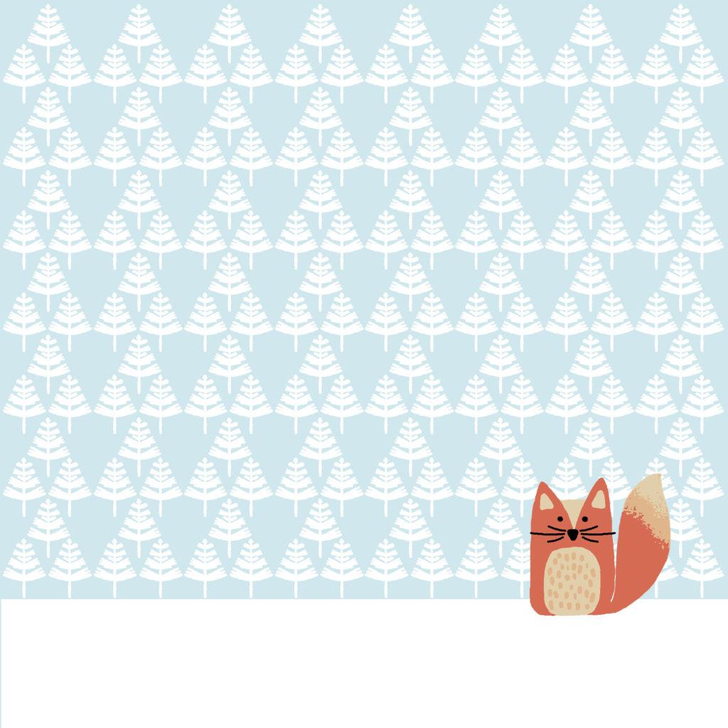 Serviette_Fuchs_Schnee_Winter_Paper+Design_hellblau_Schneewald_2016